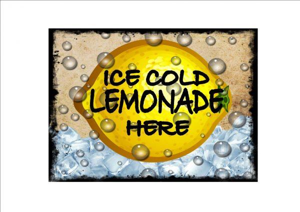 Lemonade Advertising Sign