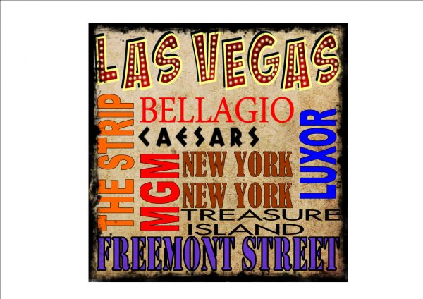 Las Vegas District Vintage Style Sign
