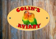 Lovebirds Personalised Aviary Sign