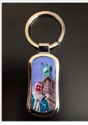 Personal Photo Metal Keyring Medium Slim