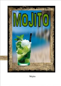 Vintage Mojito Cocktail Sign
