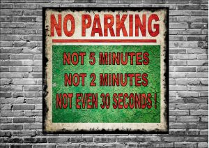 No Parking Novelty Sign