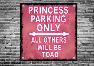 Princess Parking Only Novelty Sign