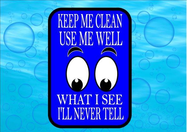 Novelty Bathroom Restroom Eyes Sign