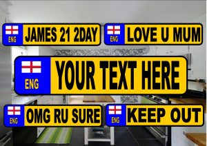 Novelty Number Plate Fridge Magnet England