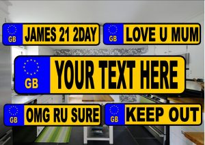 Novelty Number Plate Fridge Magnet GB