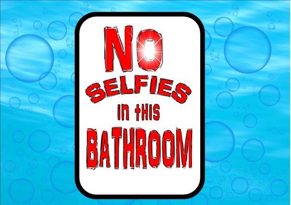 Novelty Selfie Bathroom Sign