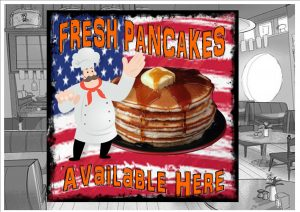 Fresh Pancakes sign