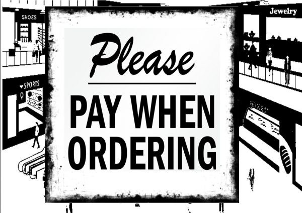 Pay When Ordering Sign