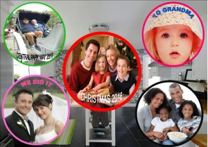 Personal Photo Fridge Magnet Round
