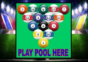 Play Pool Here Sign