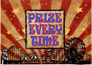 Prize Every Time Fairground Sign