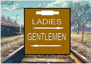 Railway Station Toilets Sign