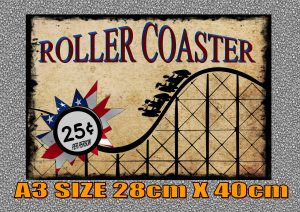 Vintage Roller Coaster Sign