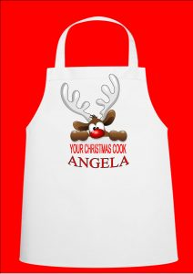Christmas Design Personalised Chefs Apron