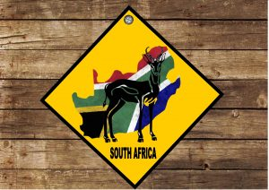 Hanging South African Sign