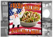 Fresh Salad Cafe Sign Wall Plaque