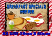 Breakfast Specials Cafe Sign