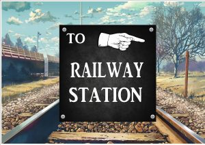 Railway Station Sign