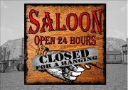 Cowboy Saloon Bar Sign