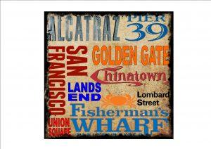 San Francisco District Vintage Style Sign