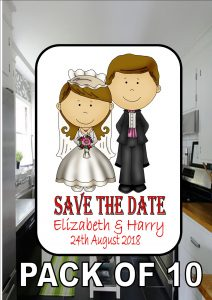 Save The Date Metal Fridge Magnet White