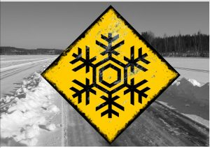 Snow Warning Sign Ice Road Sign