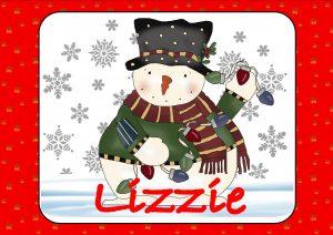 Snowman and Christmas Lights