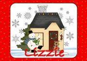 Snowman and Christmas Cottage Design