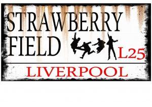 Strawberry Field Street Sign