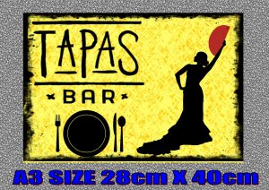 Tapas Bar sign