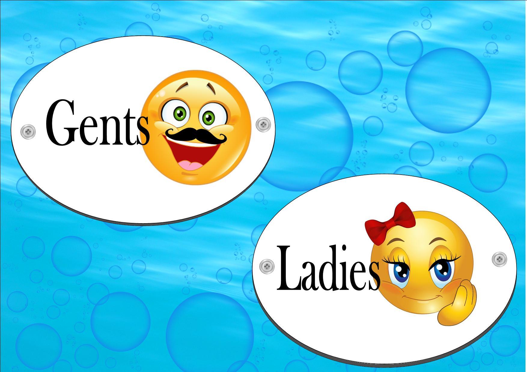 Novelty Emoji Design Toilet Door Signs – The Rooshty Beach