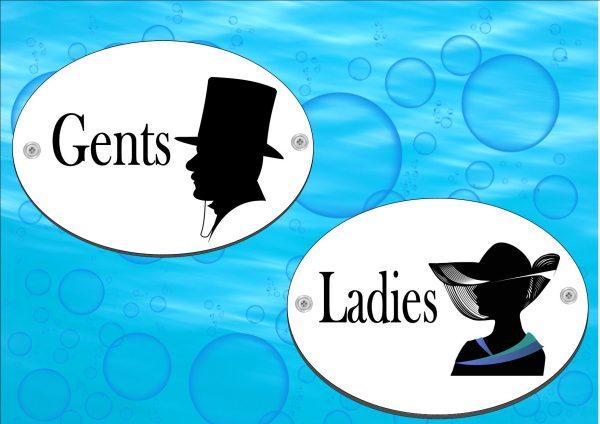 Toilet Signs Gentlemen & Lady