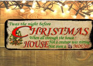 Twas The Night Before Christmas Metal Sign