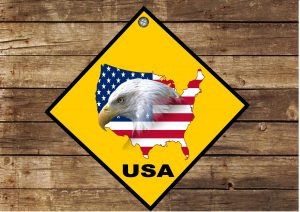 USA Hanging Sign