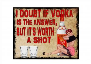Vintage Vodka Sign