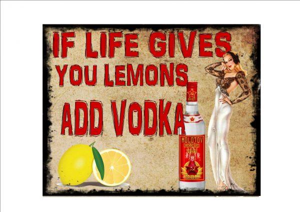 Vintage Vodka Sign