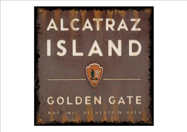 Vintage Alcaltraz Island Sign