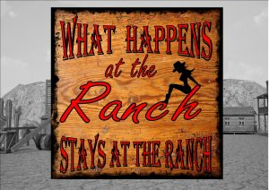 What happens at the range cowboy sign