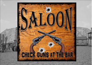 Wild West Saloon Sign