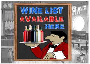 Wine List Available Here Sign