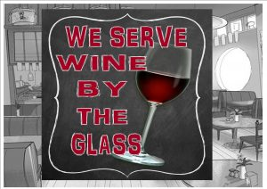 Wine by the Glass Sign