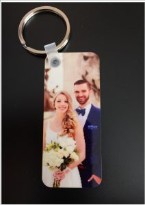 Personal Photo Wooden Keyring Rectangle Slim