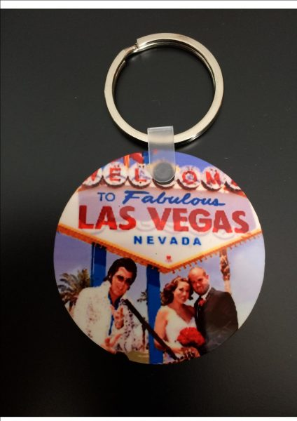 Personal Photo Wooden Keyring Round