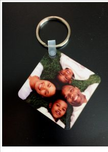 Personal Photo Wooden Keyring Square