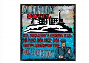 Novelty Fun Alcatraz Sign