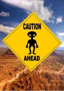alien warning sign
