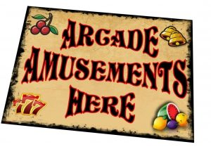 amusement arcade sign