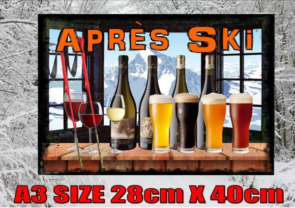 Apres Ski Wall Plaque