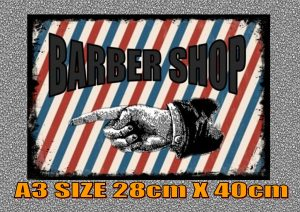 Retro Style Barber Shop Sign
